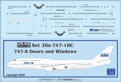 1:200 Boeing 747-8I Windows, Door & Details