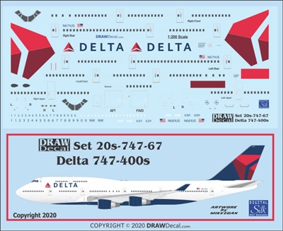 1:200 Delta Airlines (2007 cs) Boeing 747-400