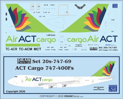 1:200 ACT Air Cargo Boeing 747-400F