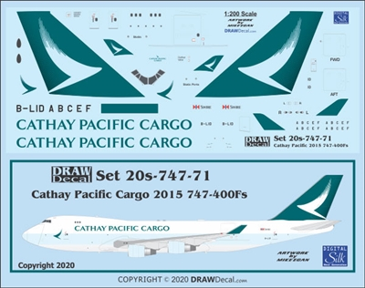 1:200 Cathay Pacific Cargo (2015 cs) Boeing 747-400F