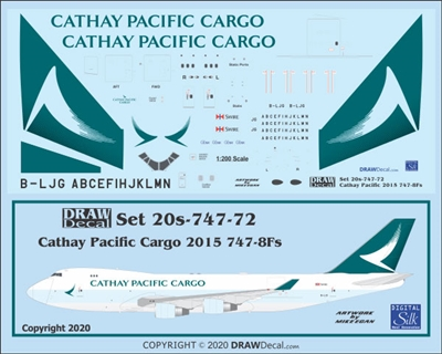 1:200 Cathay Pacific Cargo (2015 cs) Boeing 747-8F