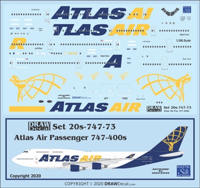 1:200 Atlas Air Boeing 747-400 (passenger fleet)