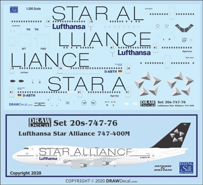 1:200 Lufthansa 'Star Alliance' Boeing 747-400M