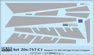 1:200 Boeing 747-200 / -300 Corogard (Top & Bottom surfaces)