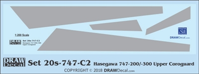 1:200 Boeing 747-200 / -300 Corogard (Boeing 747-200 / -300 Corogard (Top Surfaces Only)