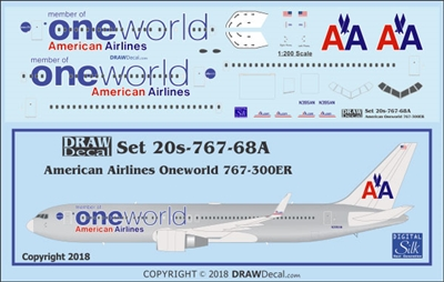 1:200 American Airlines 'OneWorld' Boeing 767-300ER