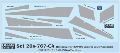 1:200 Boeing 767-200 / -300 Corogard (Top & Bottom surfaces, without wing escape markings)