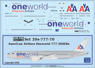 1:200 American Airlines 'OneWorld' Boeing 777-200