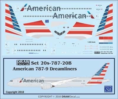 1:200 American Airlines Boeing 787-9