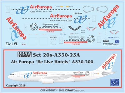 "1:200 Air Europa Airbus ""Be Live Hotels"" A.330-200"