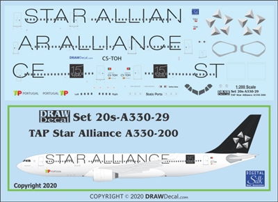 1:200 TAP Air Portugal 'Star Alliance' Airbus A.330-200