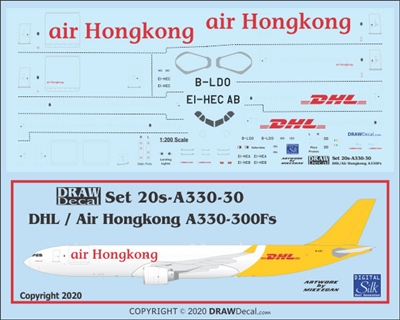 1:200 Air Hong Kong / DHL Airbus A.330-300F