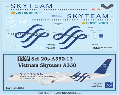 1:200 Vietnam Airlines 'Skyteam' Airbus A.350-900
