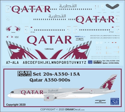 1:200 Qatar Airways Airbus A.350-900
