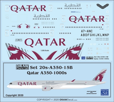 1:200 Qatar Airways Airbus A.350-1000