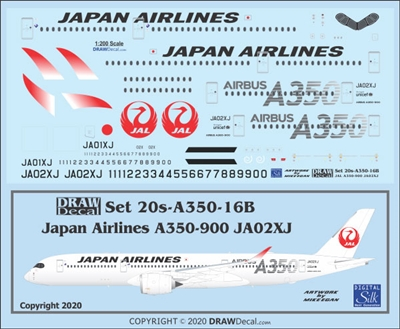 1:200 Japan Airlines Airbus A.350-900 (JA02XJ, silver details)