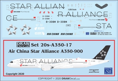 1:200 Air China 'Star Alliance' Airbus A.350-900