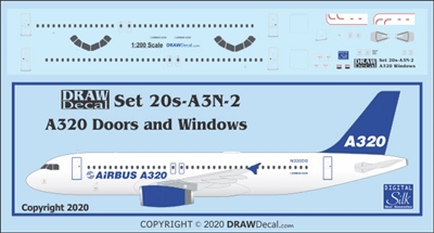 1:200 Airbus A.320 Door, Window and Windshield Set