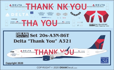 1:200 Delta Airlines 'Thank You' Airbus A.321