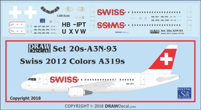 1:200 Swiss (2012 cs) Airbus A.319