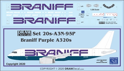 1:200 Braniff (purple titles) Airbus A.320
