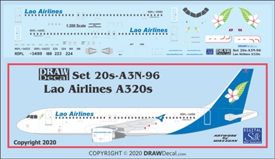 1:200 Lao Airlines Airbus A.320