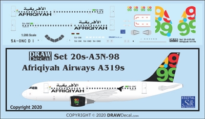 1:200 Afriqiyah Airways Airbus A.319