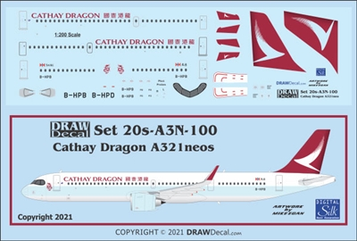 1:200 Cathay Dragon Airbus A.321NEO