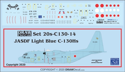 1:200 Japan Air Self Defence Force C-130H Hercules (blue cs)