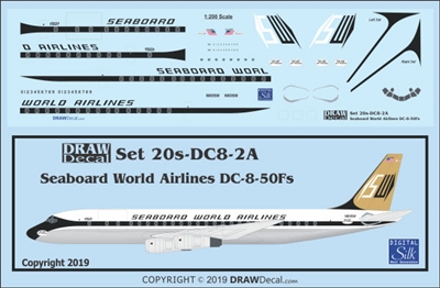 1:200 Seaboard World Airlines Douglas DC-8-54F