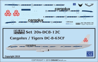 1:200 Cargolux (Flying Tiger Line cs)  Douglas DC-8-63CF