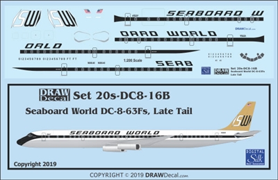 1:200 Seaboard World (later tail) Douglas DC-8-63F