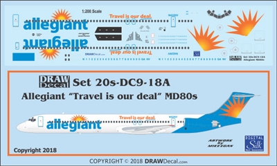 1:200 Allegiant Air McDD MD-80 'Travel is our Deal'