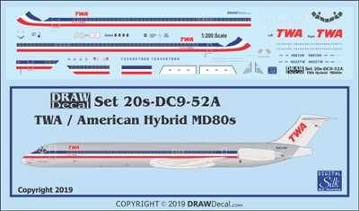 1:200 Trans World Airlines (American Airlines hybrid cs) McDD MD80