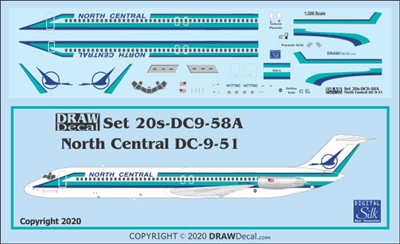 1:200 North Central Airlines Douglas DC-9-51