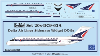 1:200 Delta Airlines (early sideways logo) Douglas DC-9-14