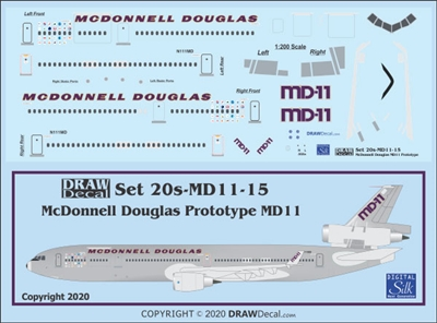 1:200 McDonnel Douglas McDD MD-11 - First Prototype