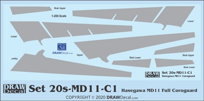 1:200 McDD MD-11 Corogard (Upper and Lower)