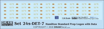 1:24 Hamilton Standard Prop Logos (36) with Data Blocks