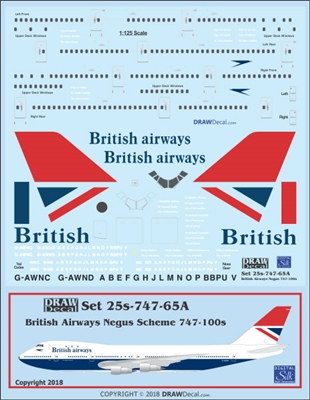 1:125 British Airways (Negus cs) Boeing 747-100