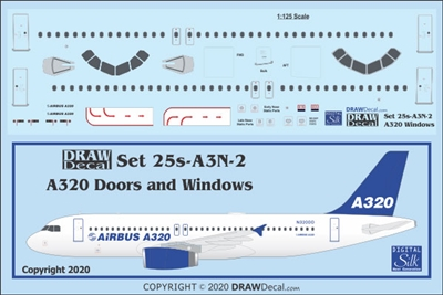 1:125 Airbus A.320 Door, Window and Windshield Set