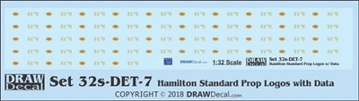 1:32 Hamilton Standard Prop Logos (44) with Data Blocks