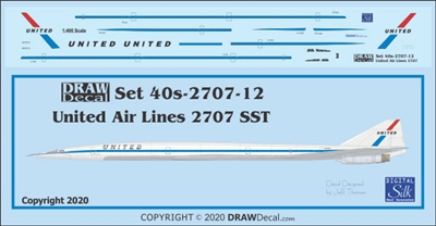 1:400 United Airlines Boeing 2707 SST