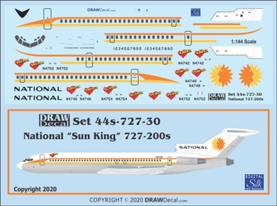 1:144 National Airlines Boeing 727-200