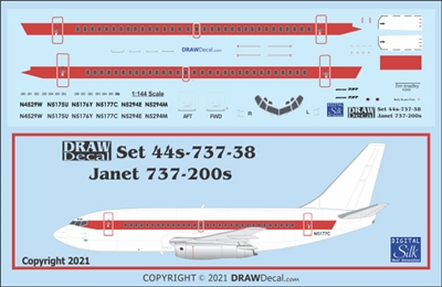 1:144 Janet Boeing 737-200 'Alien Airways' Area 51 Transport