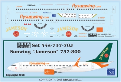1:144 Sunwings 'Jameson' Boeing 737-800