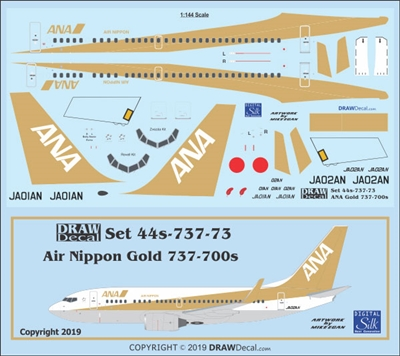 1:144 Air Nippon (gold cs) Boeing 737-700(W)