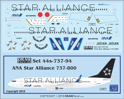 1:144 All Nippon 'Star Alliance' Boeing 737-800(W)