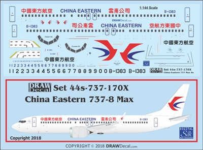 1:144 China Eastern Boeing 737-MAX8