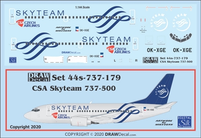1:144 CSA Czech Airlines 'Skyteam' Boeing 737-500